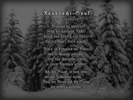 Rauhnacht-Spuk